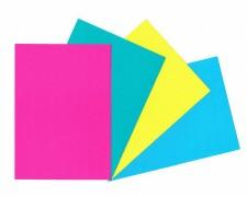 Rückwände / Deckblätter Chromo glossy, 250gr/m2, A4, gelb, 100 Stk.