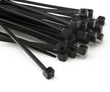 PAVO Kabelbinder 3.5 x 180mm, schwarz, aus Polyamid, verschleißfest, 100 Stk