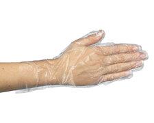 Einweghandschuhe aus PE transparent gehämmert Größe M, 500 Stk.