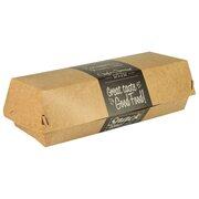 Baguetteboxen Sandwichboxen aus Pappe pure 22 x 8,5 cm Good Food, 50 Stk.
