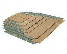 progressBOX Fixiereinlage Premium für Versandkarton, 500x390mm, DIN B3+, braun
