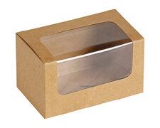 Bio Sandwichbox Foodbox mit Sichtfenster aus PLA 12,5 x 7,7 x 7,2 cm 25 Stk