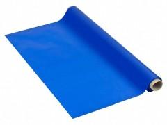 Tischdecke Tischtuch 110cm x 10 m mit Alkoholschutzlackierung aus PE, blau