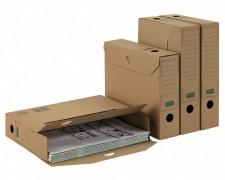 ARCHIV-ABLAGEBOX zum Aufbewahren von Ordnerinhalten, Listen... 320x67x242, braun
