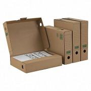 ARCHIV-ABLAGEBOX mit KREMPE zum Aufbewahren von Ordnerinhalten 265x75x324, braun