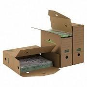 ARCHIV-ABLAGEBOX zum Aufbewahren von Ordnerinhalten, Listen 334x120x275mm, braun