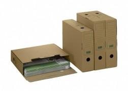PG-PF_B06.25_14_02_1 ARCHIV-ABLAGEBOX zum Aufbewahren von Ordnerinhalten, Listen  325x265x80mm, braun