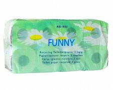 Toilettenpapier 2lagig, 250 Blatt, recycling, geprägt, griffig, weiß, 64 Rollen