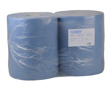 Putzpapierrolle 36cm, 100% Zellstoff, 2 lagig, perforiert, 1000 Blatt, 2 Stk.
