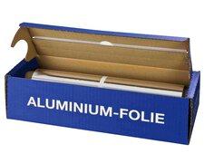 Alufolie in praktischer Spenderbox mit Abreiss-Schiene, 44 cm x 150 m, 11 my