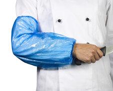 Ärmelschoner aus LDPE 40 x 20 cm blau, 100 Stk.