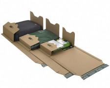 Universalverpackung PP B22.17 braun, 378x295x 1-80mm, für B4, SK-Verschluss