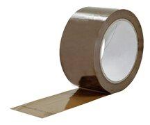 1-PACK Packband Klebeband PVC-200, 50mmx66m, Low Noise, braun