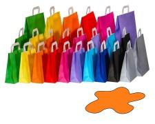Papiertragetaschen Papiertaschen Flachhenkel 18x8x22cm orange, 70gr. 50 Stk.