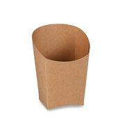 BIONATURE Wrap-Becher braun mit Fettbarriere Recycling 3,9x7,5x10cm, 50 Stk.
