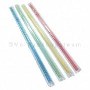 Trinkhalme Flexhalme einzeln verpackt, bunt gemischt, 240 mm Ø 5 mm, 200 Stk.