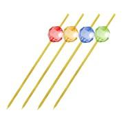 Fingerfood-Spieße aus Bambus PERLE 120 mm, stabil und splitterfrei, 100 Stk.