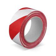 Markierungsband Signalband Warnklebeband Gewebe robust Rot / Weiß 50mm x 33 m