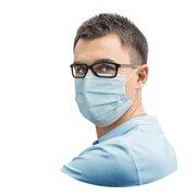 Medizinischer Mund-Nasenschutz 3-lagig (MNS) 17,5 x 9,5 cm, 50 Stk.