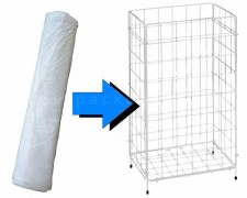 Mülleimerbeutel für Gitterabfallkorb, 63 x 85 cm, 50 l, weiß, 40 Stk.
