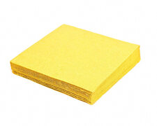 Servietten 33 x 33 cm 1/4-Falz 3-lagig gelb, 20 Stk.