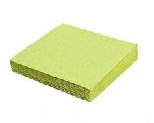 Servietten 33 x 33 cm 1/4-Falz 3-lagig gelbgrün, 20 Stk.