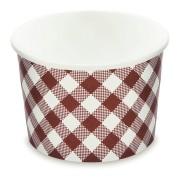 Papierbecher Eisbecher rund KARO 500 ml, Ø 11,5 cm, 50 Stk.