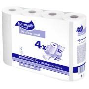 Küchenrollen Harmony Professional 3-lagig 50 Blatt FSC®-zertifiziert, 4 Stk.