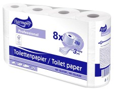 Toilettenpapier 3-lagig Harmony Professional 250 Blatt FSC-zertifiziert, 8 Stk.