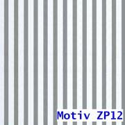 Geschenkpapier Prestige metallisiert  50 cm x 100 m | Motiv ZP12 silber gestreift