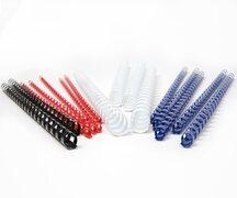 Plastikbinderücken 14mm, bis max. 125 Blatt, Blau, 25 Stk.
