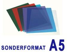 Deckblätter 0.20mm, für A5, transparent glasklar,  25 Stk.