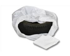 Reifensäcke Seitenfaltensäcke weiss 780 + 300 x 1000 mm, 30my, 250 Stk