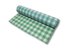 Biertischdecke mit Leinenstruktur grün/weiss, sehr stabil, 0,75 x 100m