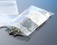 Druckverschlussbeutel 220 x 310 mm, mit Stempelfeld, 90 my, extrastark, 100 Stk.