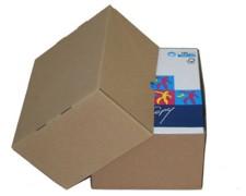 Stülpdeckelkarton aus Wellpappe LARGE für Din A4, 305x215x150-(270)mm