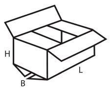 Faltkarton  250x180x100mm 1wellig DICKWELLE