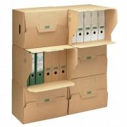 ARCHIV-ALTABLAGE-CONTAINER 426x326x295mm, erweiter- und stapelbar, braun