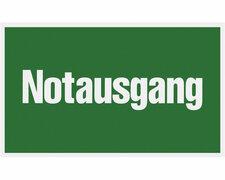 Hinweisschild grün Notausgang - 250x150mm