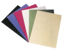 Rückwände / Deckblätter genarbter Lederkarton, 250gr. A4, blau,  25 Stk.