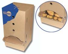Spenderbox mit Frontklappe 190x190x380mm