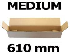 Faltkarton Versandhülse  610x105x105mm sehr stabil, 2wellig