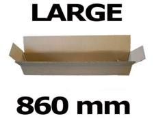 Faltkarton Versandhülse  860x105x105mm sehr stabil, 2wellig
