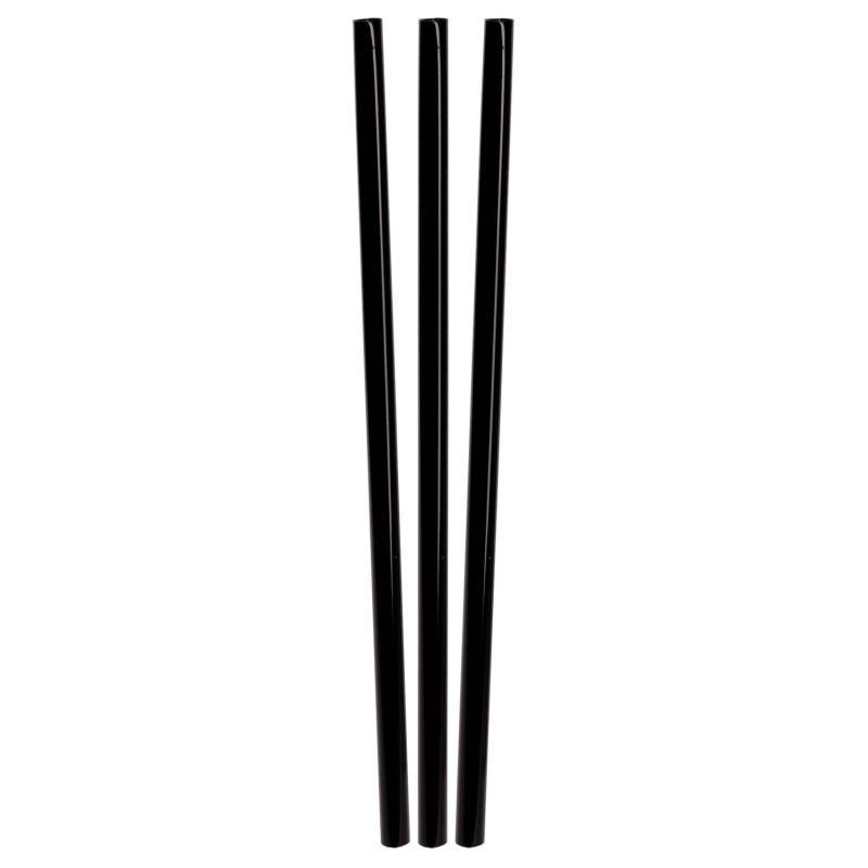 BIO Trinkhalme aus PLA, schwarz, Ø6mm, 16cm, 150 Stk.