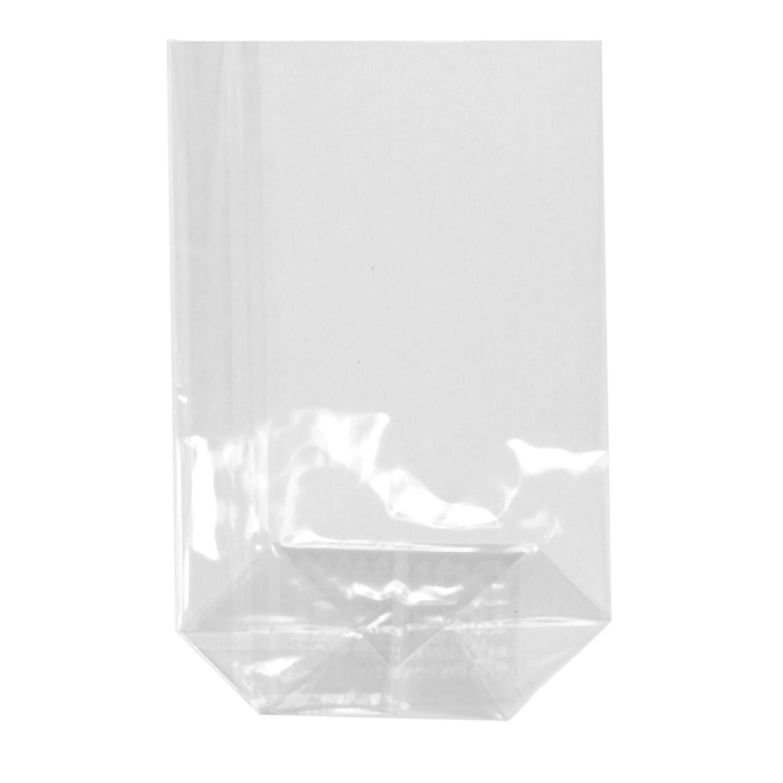 Bodenbeutel PP 23,5 cm x 14,5 cm x 5,8 cm transparent,  10 Stk.