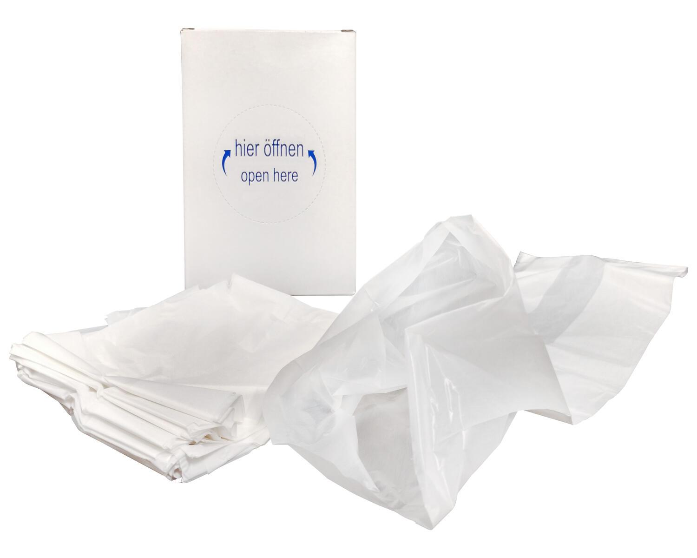 HYGSOFT Hygienebeutel für Damenbinden aus HDPE, in Spenderkarton, weiß, 30 Stk.