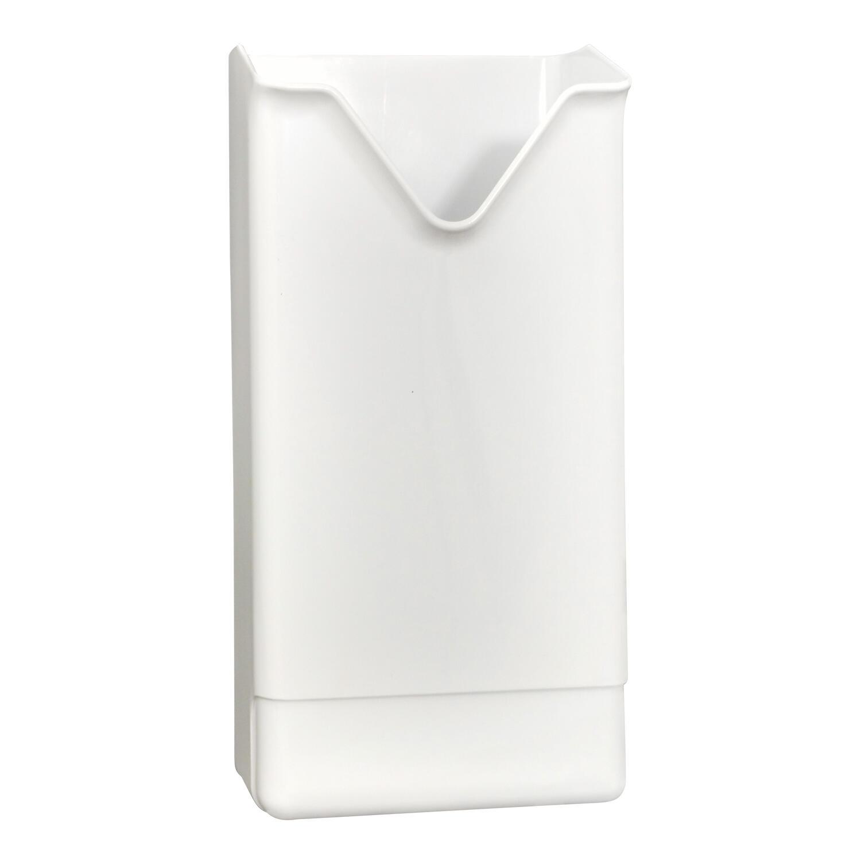 HYGSOFT Spender aus Kunststoff für Hygienebeutel aus Papier, weiß