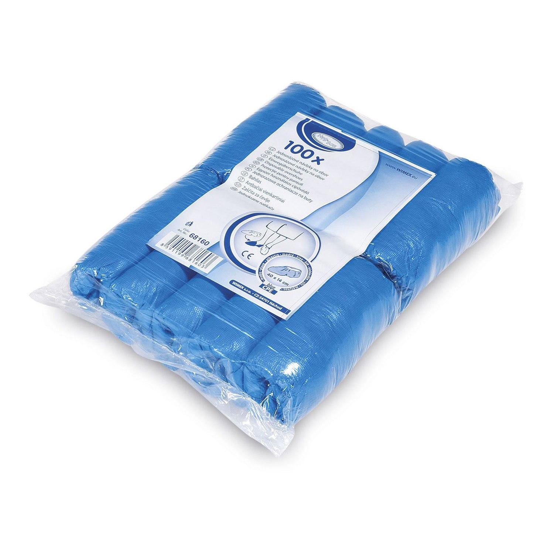 Einwegüberschuhe, CPE, blau, ca. 40x14 cm, 100 Stk.