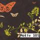 Geschenkpapier Nature Eco 60 cm x 200 m | Motiv 105 Schmetterling Ranken