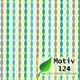 Geschenkpapier Nature ECO  50 cm x 200 m | Motiv 124 Retro Perlen